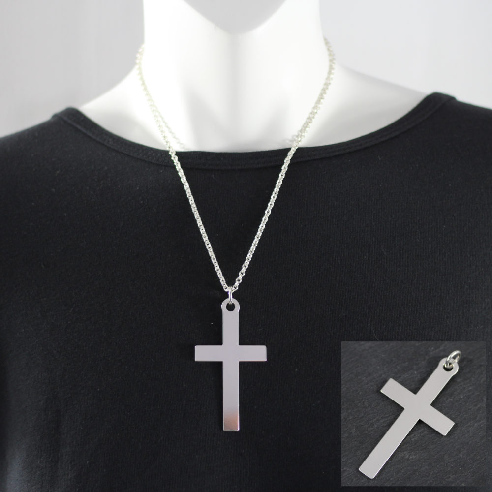 Silver cross pendant 65mm. in south africa