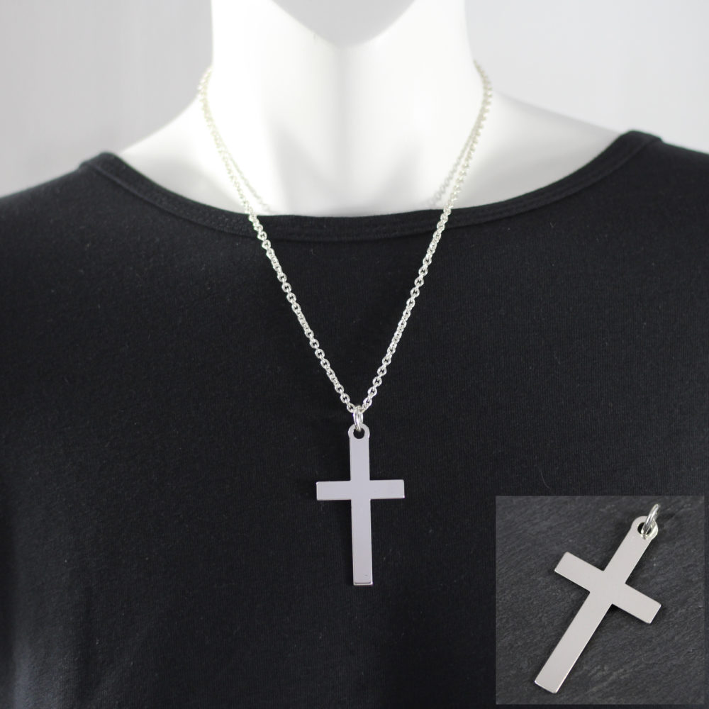 silver cross pendant 55mm in south africa